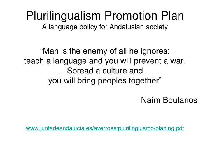 Plurilingualism Promotion Plan