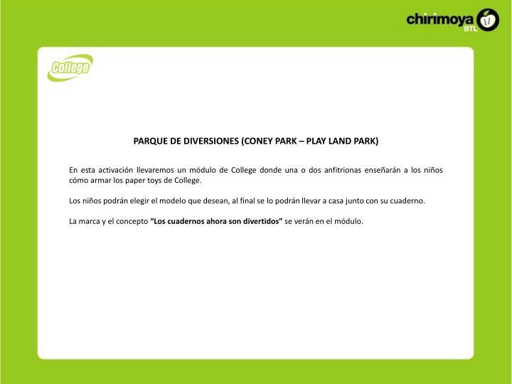 PARQUE DE DIVERSIONES (CONEY PARK