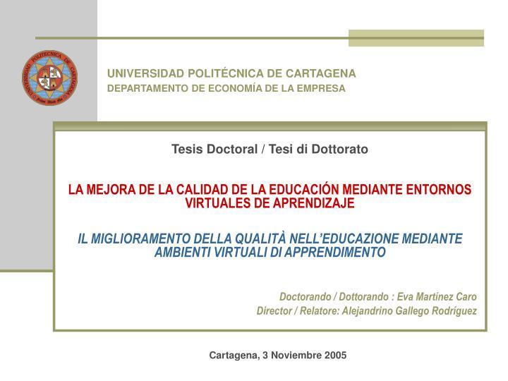Tesis Doctoral / Tesi di Dottorato