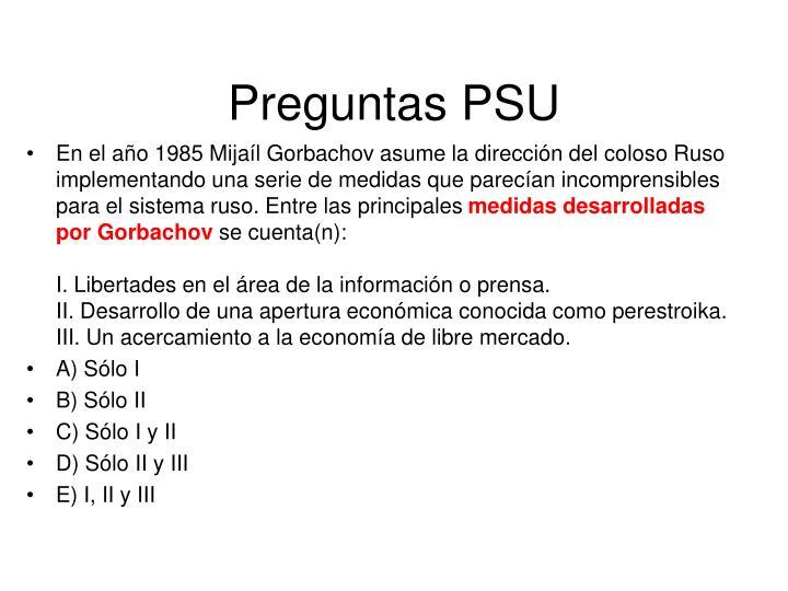 Preguntas PSU