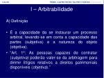 i arbitrabilidade