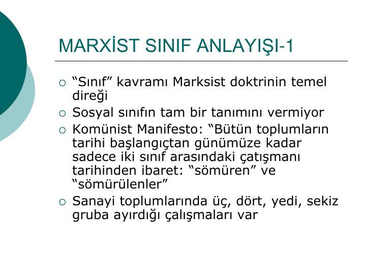 MARXİST SINIF ANLAYIŞI-1
