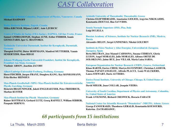 CAST Collaboration
