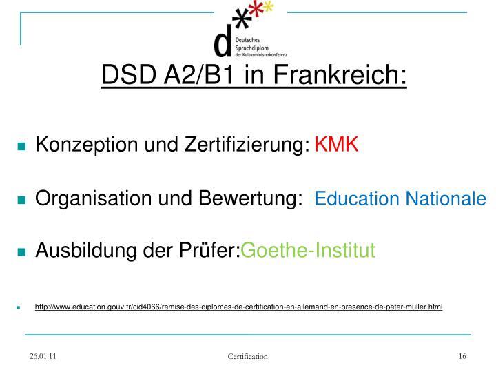 DSD A2/B1 in Frankreich: