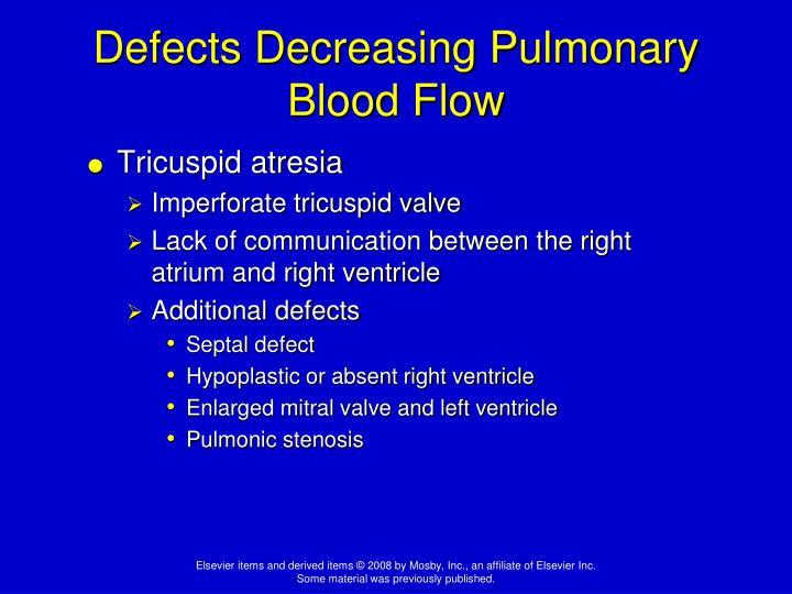 Defects Decreasing Pulmonary Blood Flow