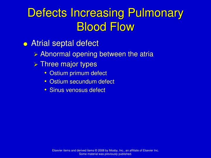 Defects Increasing Pulmonary Blood Flow