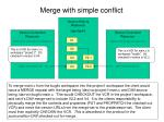 merge with simple conflict