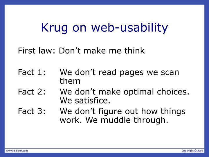 Krug on web-usability
