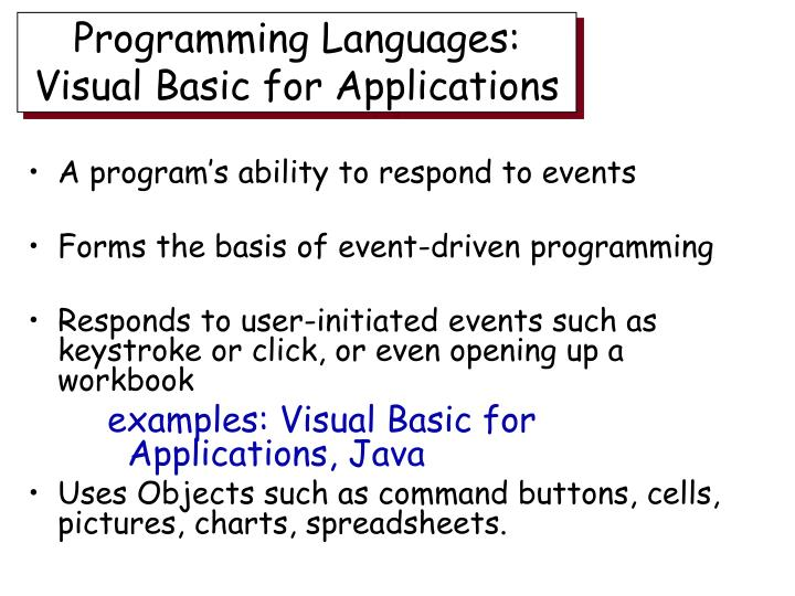 Programming Languages: