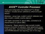 avos tm controller processor