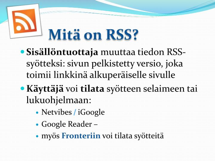 Mit on rss1