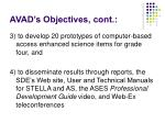avad s objectives cont