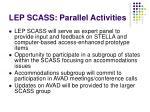 lep scass parallel activities