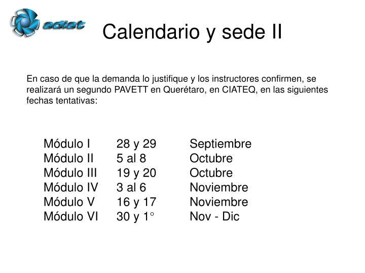 Calendario y