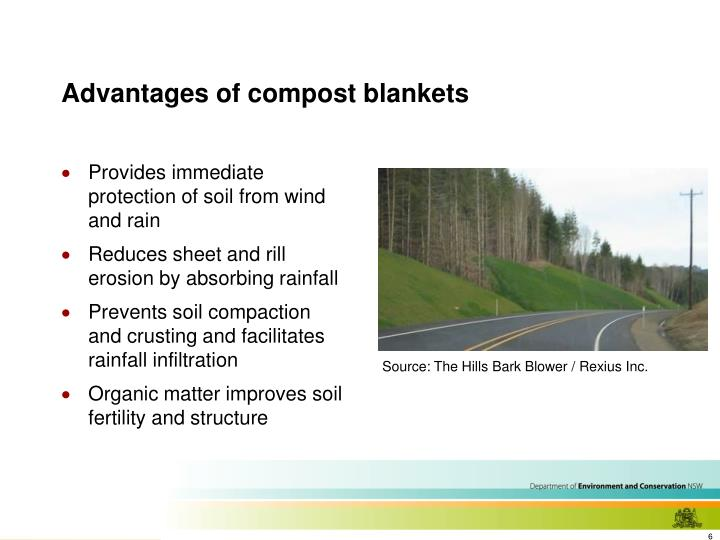 Advantages of compost blankets