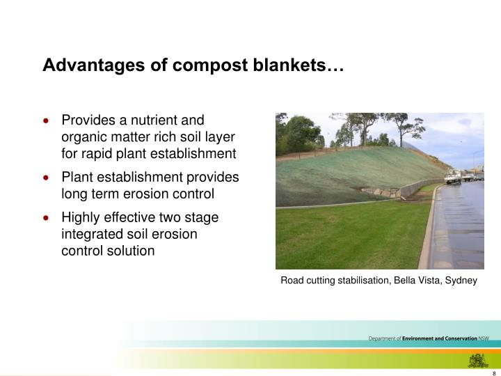 Advantages of compost blankets…