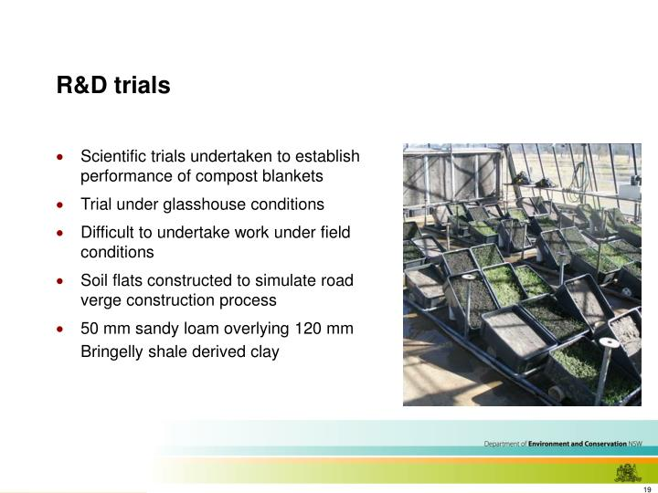 R&D trials