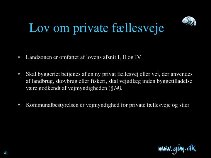 Lov om private fællesveje
