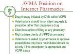 avma position on internet pharmacies