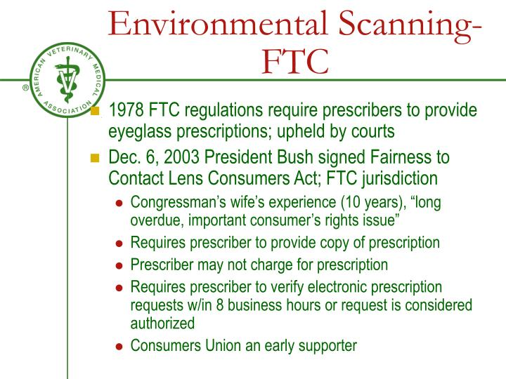 Environmental Scanning-FTC
