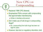 new cpg on compounding