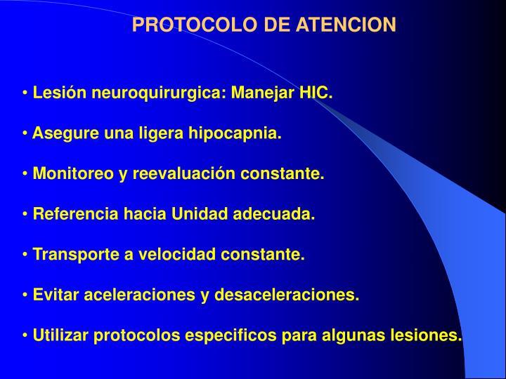 PROTOCOLO DE ATENCION