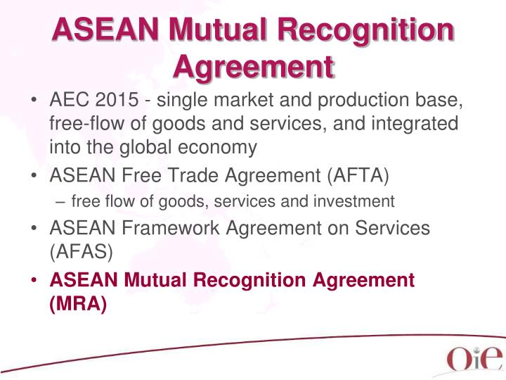 ASEAN Mutual Recognition Agreement