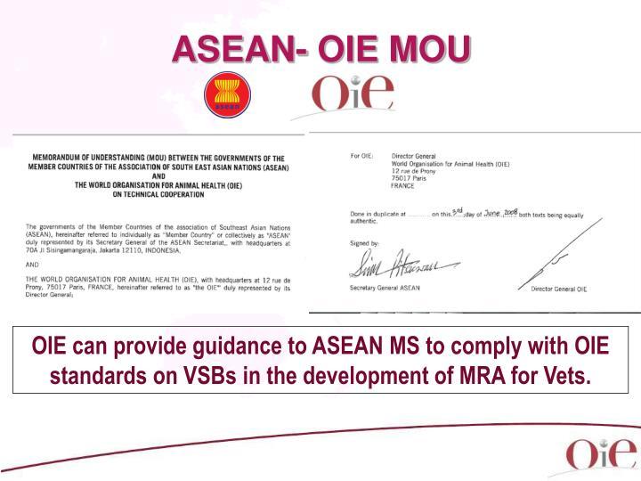 ASEAN- OIE MOU