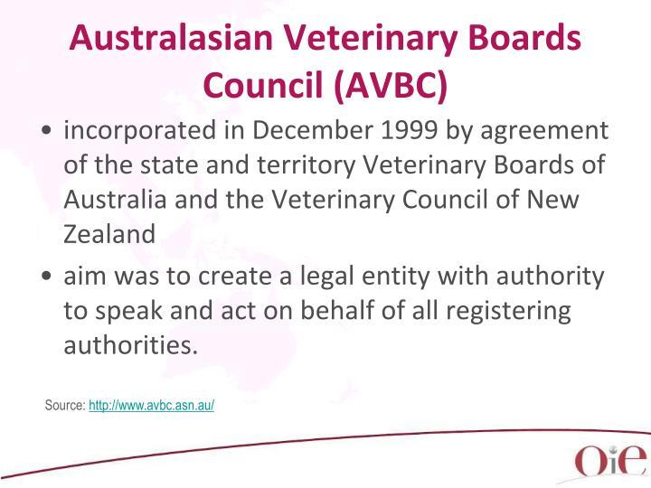Australasian Veterinary Boards Council (AVBC)