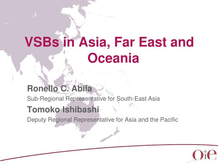 VSBs in Asia, Far East and Oceania