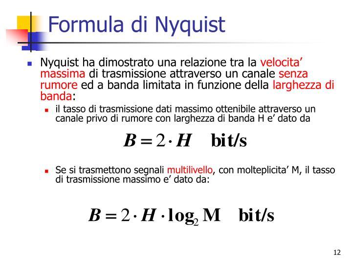 Formula di Nyquist