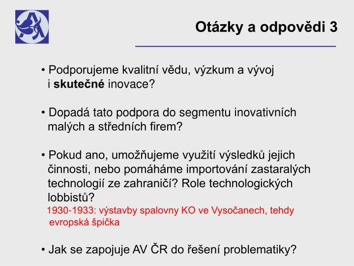 Otázky a odpovědi 3