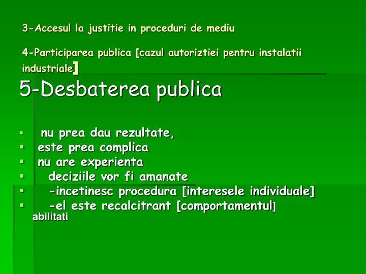 3-Accesul la justitie in proceduri de mediu
