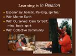 learning is in relation