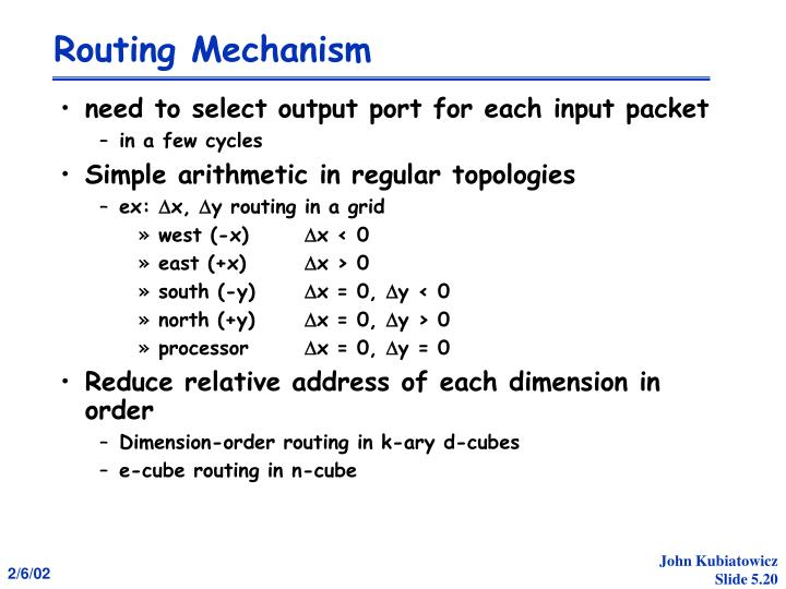 Routing Mechanism