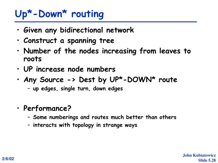 Up*-Down* routing