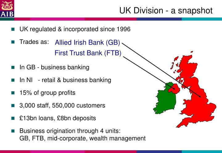 UK Division - a snapshot