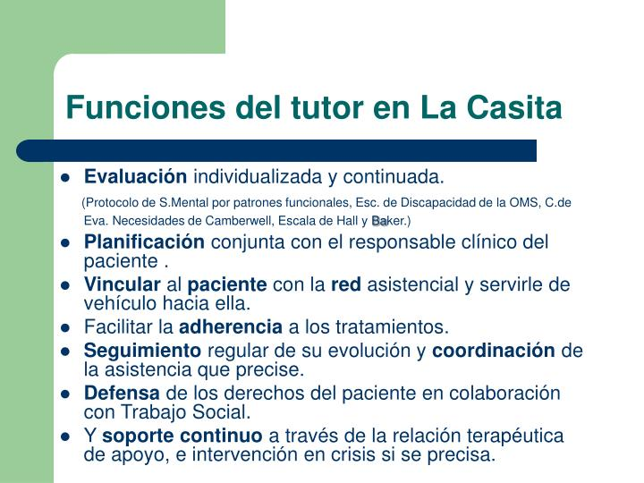 Funciones del tutor en La Casita