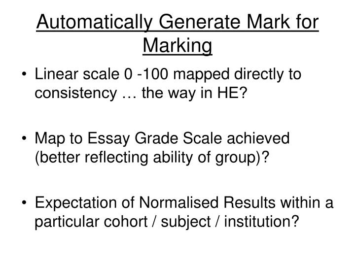 Automatically Generate Mark for Marking