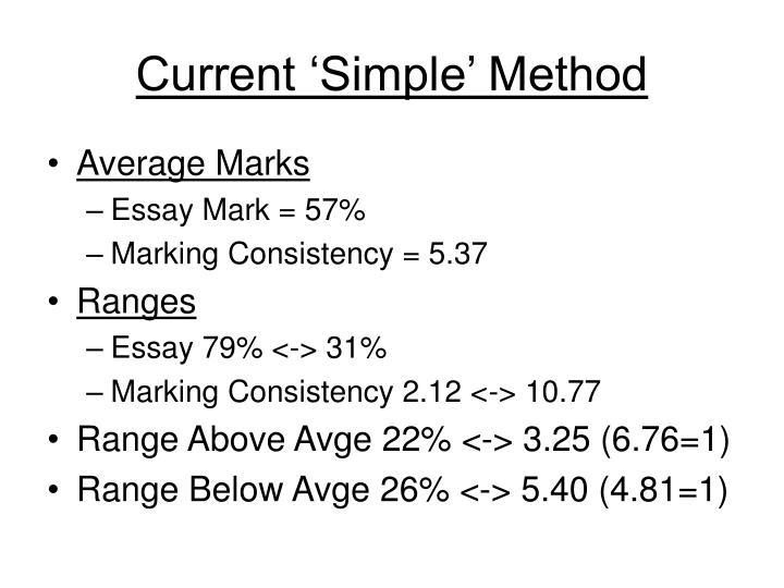 Current 'Simple' Method