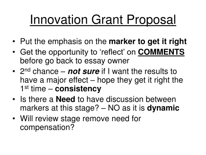 Innovation Grant Proposal