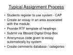 typical assignment process