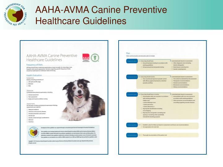 AAHA-AVMA Canine Preventive