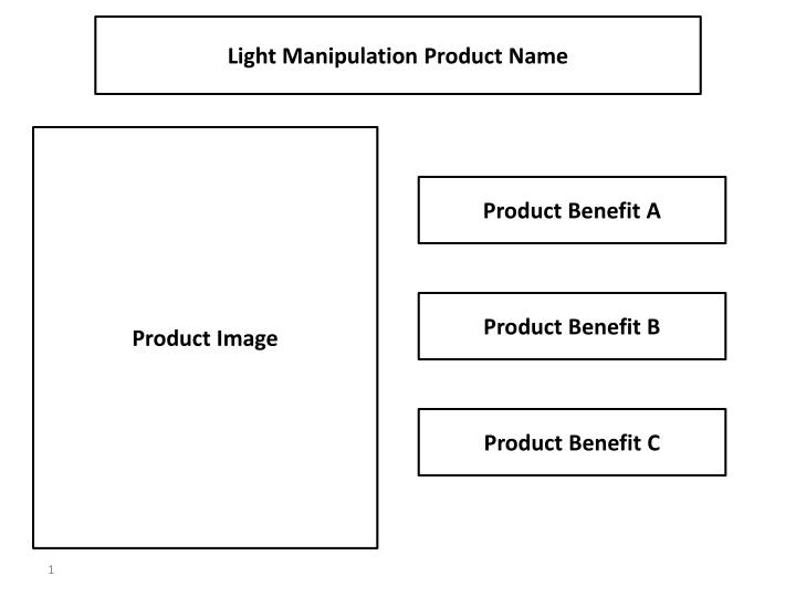 Light Manipulation Product Name