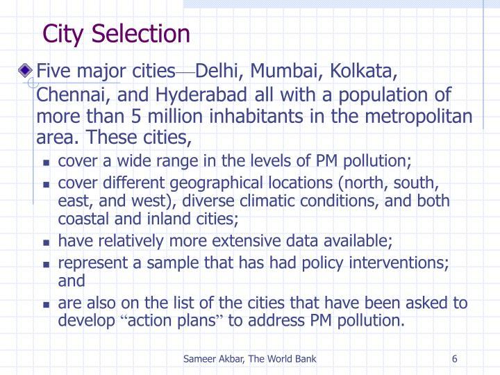 City Selection