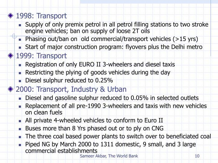 1998: Transport