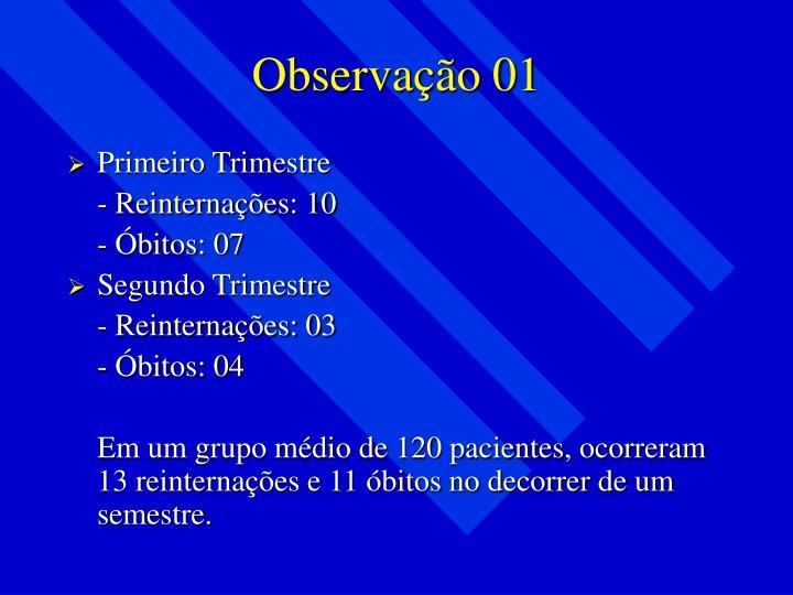 Observação 01