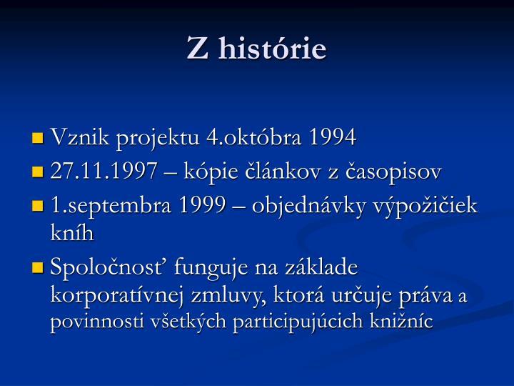 Z histórie