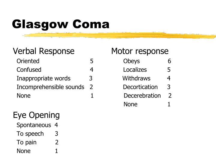 Glasgow Coma