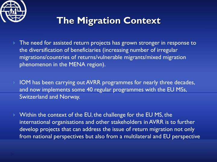 The migration context
